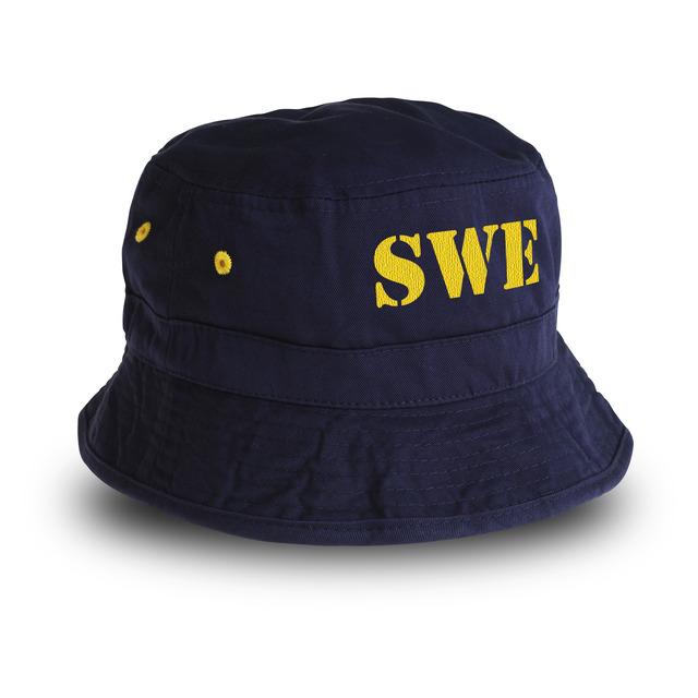 Nu till kampanjpris! Inkl. SWE i brodyrtransfer utan extra kostnad.Sverigehatt i blått med gula detaljer. Finns i både large och medium.