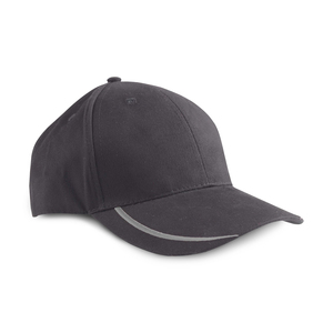 Cap with embroidered bow in several color options on the peak. Metal buckle closure in the back.