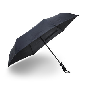 A collapsible compact umbrella that is our highest quality, long-lasting, and wind-resiliant. Made with six panels with automatic extension and folding. Handle in grip-friendly rubber with wrist strap. Comes with a practically designed case.