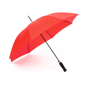 A sturdy and affordable 8-panel umbrella, which is very popular. The umbrella has automatic folding, strong black steel shaft, metal rod and a grip-friendly straight EVA foam handle. The quality of the panel fabric is called Pongee and gives a higher quality and finer finish when printed. The umbrellas can be made unique with digital printing, among other design options, over all panels, and on both the outside and inside of the umbrella. Save is also available with panel fabric made of recycled polyester.