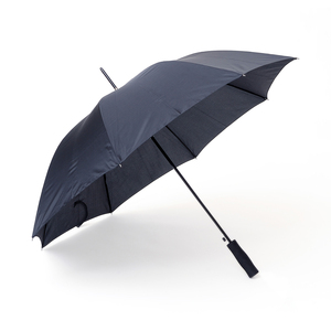 Our bestseller Save is now available in an environmentally smart alternative, where the panel fabric is made from recycled PET (R-PET). Save is a sturdy 8-panel umbrella with automatic folding. Features a black steel shaft and straight EVA foam handle. The R-PET option is marked with a hang tag and a discreet tone-on-tone print on the strap and on the outside of the panels with description of the material. Save R-PET is available in black.