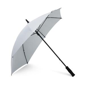 Ett annorlunda paraply som skyddar extra mot regn på ryggen. Strömlinjeformat 8-panels paraply med framskjutet handtag för hård vind. Skaft, spröt och mekanism i grafit.