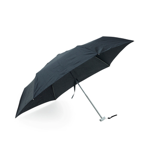 Umbrella sale! Minimal umbrella with flat handle to take up as little space as possible. Perfect for the coat pocket, hand pocket, or purse. Do not miss the opportunity to buy at outlet prices!