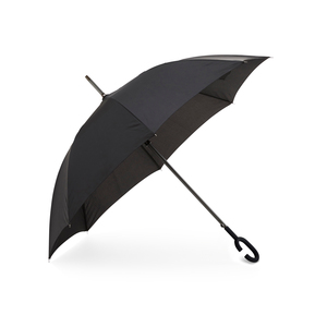 Stable 8-panel umbrella with a graphite gray-lacquered aluminum shaft. Automatic opening and wind-resilient mechanism make it extra durable in breezy weather. The special handle is designed to be best on the wrist, so you can have both hands free.