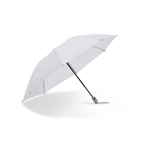 Unique compact umbrella that folds upwards - contrary to the traditional way. Automatic expanding and collapsing. Convenient when in crowds, getting in a car, or anywhere where there is not much room for a bulky umbrella. This features eight panels, wide strap, metal shaft, and a handle in a stylish design.