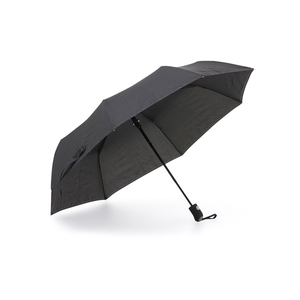 A stable, wind-resistent compact umbrella with graphite rod and automatic folding. The 8 panels are lined with reflective wire, which gives the umbrella extra visibility in the dark. Features a rubberized handle.