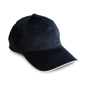 Flexible hat with a low profile, pre-curved peak, and closed back.