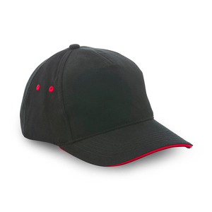 Cap without front seam. 5-panel make with a 6-panel feel. Ideal for printing and embroidery as no seam disturbs the frontmost panel.