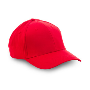 SALE! Popular 6-panel hat with pre-curved peak and velcro strap closure in the back. This cap is bought in whole cartons of 50 pcs.