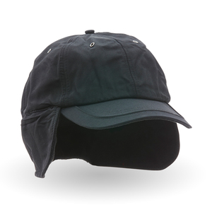 Fleece-lined winter cap with water resistent material. Drawstring for a better fit. Fold-down ear flaps and neck protection.