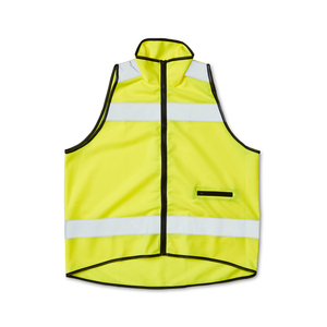 CE-approved fluorescent vest that is functionally designed with a collar and pocket with a zipper. The vest zipper in the front is made from sturdy plastic, and the back section of the vest is longer for extra surface for printing and visibility at the rear. Suitable on the running track or for a city walk as it provides increased visibility in traffic. Approved according to EN ISO 20471: 2013 class 1. Delivered in a case. When printing on the vest - According to CE standard, the background material may be covered with a total of 3815 cm2, of which a maximum of 1712 cm2 on the front.