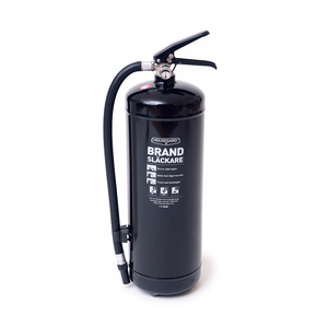 Powder fire extinguisher intended for houses, holiday homes,apartments, offices, and industrial workplaces. It meets fire class ABC and has efficiency class 55A 233B C.Certification: SS-EN3, CE, Wheel-mark, DNV.