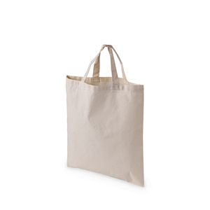 Bag in cotton. Simple yet versitile model without gussets, suitable for trade fairs.