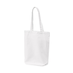 Cotton bag made in durable 250 gram variety. The wide bottom gussets make it spacious and functional for everyday use.