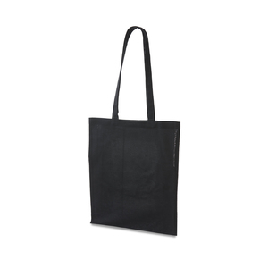 Very affordable bag made of thin 100 gram flexible cotton. Simple model without gussets with a handle length of 75cm that is suitable to carry both over the shoulder and in the hand.