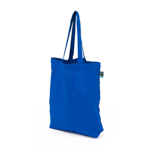This Fair Trade Certified carrier bag with long handles is made in a compliant 160 gram quality. All cotton is Fair Trade certified, thus traded, inspected and comes from Fair Trade producers. Read more about Fair Trade products at www.info.fairtrade.net