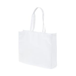 Shoppingbag i Non woven material. Bälg i både botten och påsidorna och med förstärkta handtag gördetta till en lämplig modell för t.ex matbutiken.