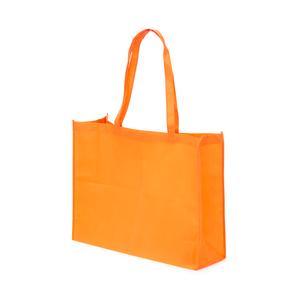 Shoppingbag i Non woven material. Bälg i både botten och påsidorna och med förstärkta handtag gördetta till en lämplig modell för t.ex matbutiken. OBS! Tryckpris endast för 1-färgstryck. För flerfärgstryck - kontakta oss för offert!