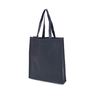 Bag in non-woven material. Gussets on the bottom and on the sides. The long reinforced handles are adapted in length to be carried both over the shoulder and in the hand. Please note: Printing price only for 1-color printing. For multi-color printing - contact us for a quote.