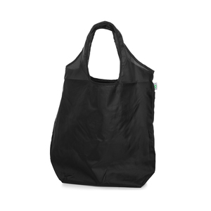 An affordable pocket bag made of black recycled polyester 190T. The bag is easily folded into the pocket on the inside. Delivered flat, not folded, and can therefore be printed on the front or back. The model is approved at RISE for repeat usage. Contact us for available imprint colours!