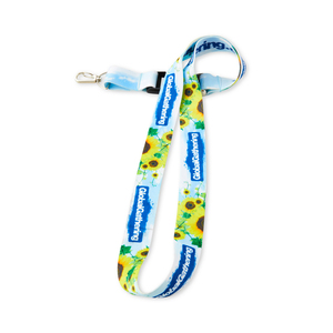 """Sublimation-printed lanyard where patterns, photo prints and color-changing logos directly on the ribbon are possible. Extra soft band where the print is """"in"""" the band. 900 mm long x 20 mm wide. It is also available in 10/15/25 mm widths. Sublimated print on both sides, snap hook and buckle release included. Minimum order quantity: 100 pcs. Starting cost 1290 SEK (Recommended price)."""