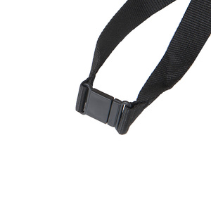 A safety buckle is included in all our lanyards for everyone's safety. Standard color black. For an additional fee, it can also be colored. Contact us for a quote.