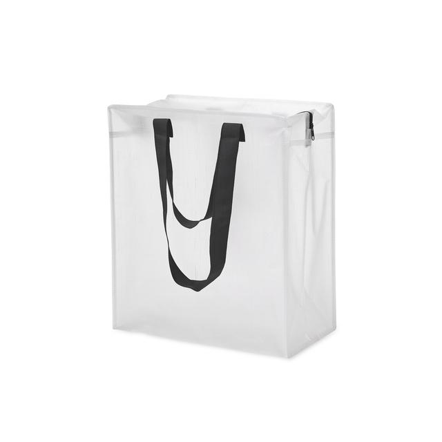 Praktisk förvaringsbag i transparent PP Woven. Man får enkelt en överblick på vad som ligger i väskan. Utrustad med dragkedja och dubbla handtag. Materialet gör den slitstark, vattenavstötande och tålig.