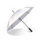 Ett reflekterande paraply som ger extra synbarhet i mörker. Manuell uppfällning med åtta paneler. Grafitskaft och grafitspröt gör paraplyet extra vindtåligt. Handtag i greppvänlig EVA-foam.