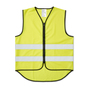 CE-approved fluorescent vest in affordable unisex model with elastic at the sides. The reflectors around the vest are 50 mm wide. The warning vest is approved according to EN 1150. Delivered in a case. When printing on the vest - According to CE standard, the background material may be covered with a total of 1039 cm2, of which a maximum of 653 cm2 on the front.